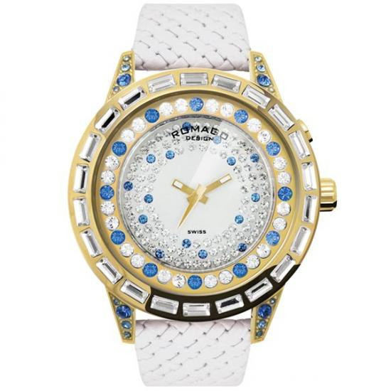 ROMAGO DESIGN (ロマゴデザイン) Dazzle series ダズルシリーズ 腕時計 RM006-1477GD-BU