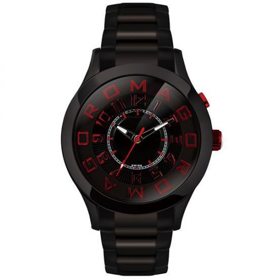 ROMAGO DESIGN (ロマゴデザイン) Attraction series アトラクションシリーズ 腕時計 RM015-0162SS-BKRD