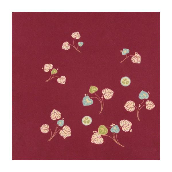 宮井 ふろしき 徳川美術館コレクション 絹68cm幅 紫地葵紋付葵の葉文辻が花染羽織