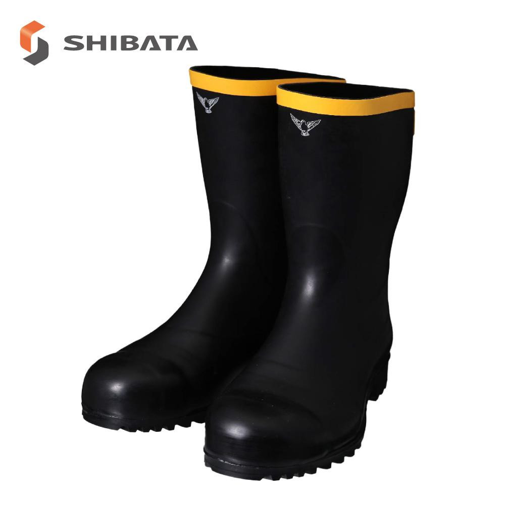 SHIBATA シバタ工業 静電気帯電防止長靴 AE011 安全静電長 ブラック 25センチ