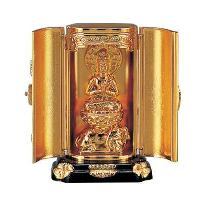 高岡銅器 亜鉛合金製仏像 渡辺景秋作 普賢菩薩 71-12