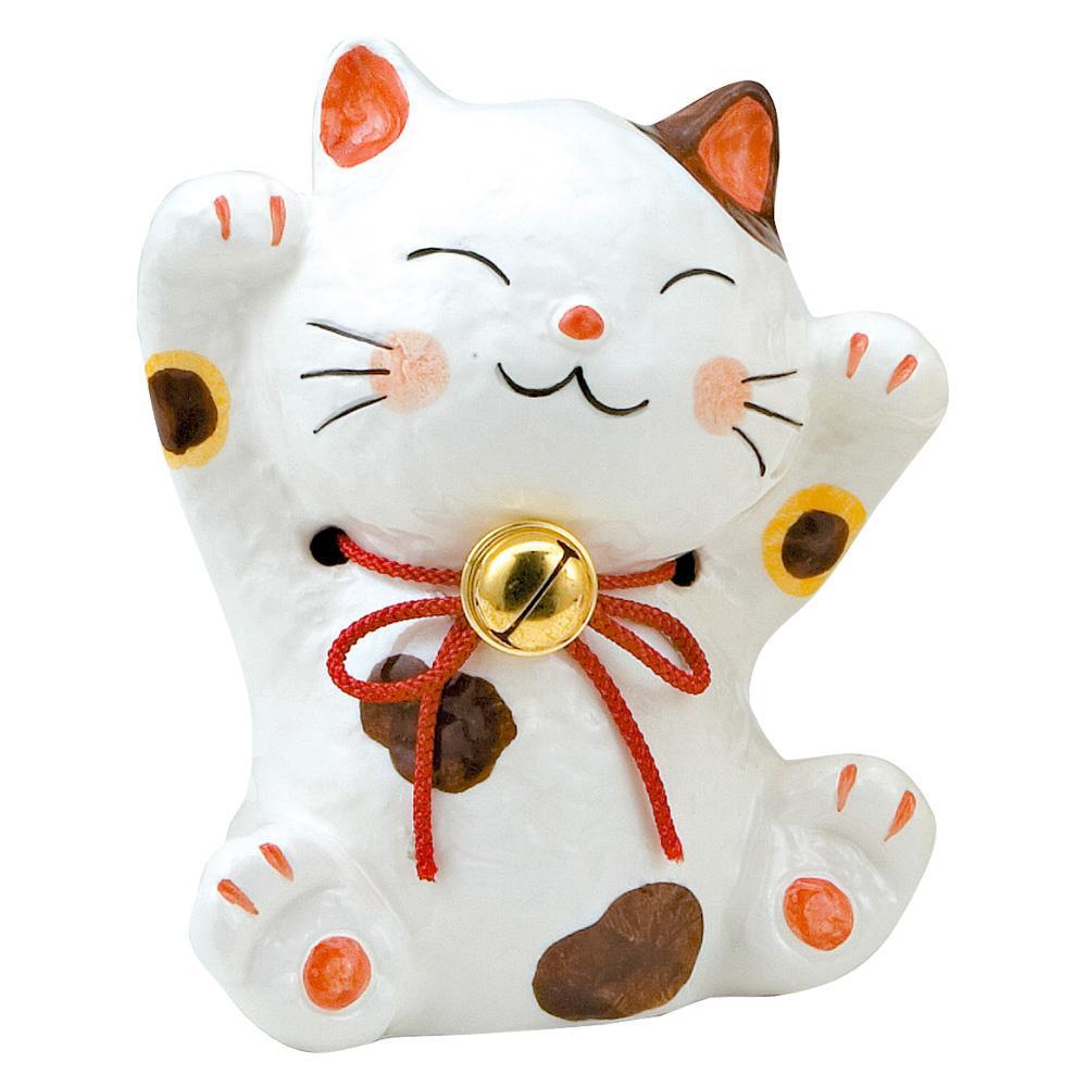 福鈴猫 激安特価品 貯金箱 人気上昇中 万歳 K265