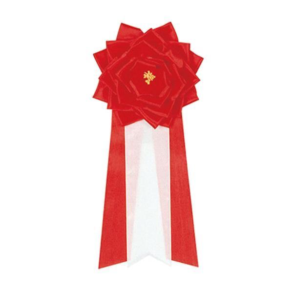 ササガワ タカ印 38-210 記章 リボンバラ 特大 赤 6個