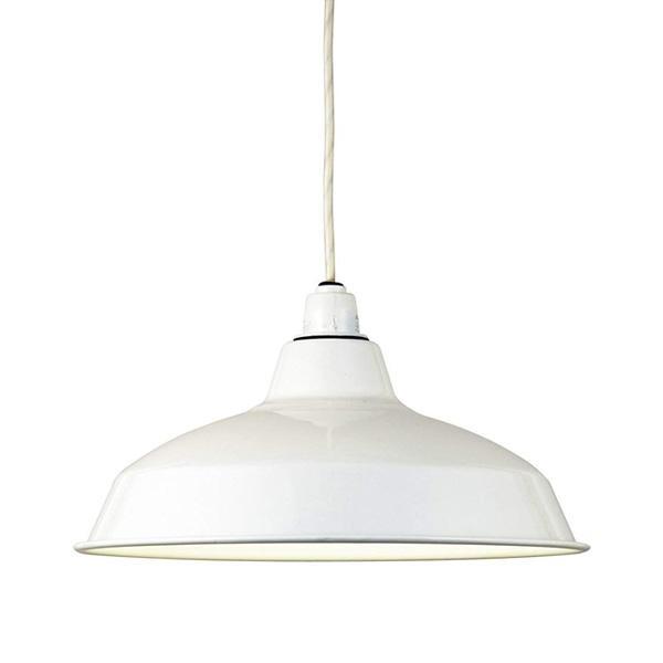 ペンダントライト Horo ホーロー 配照型14インチ白熱球 1灯 WH [ラッピング不可][代引不可][同梱不可]