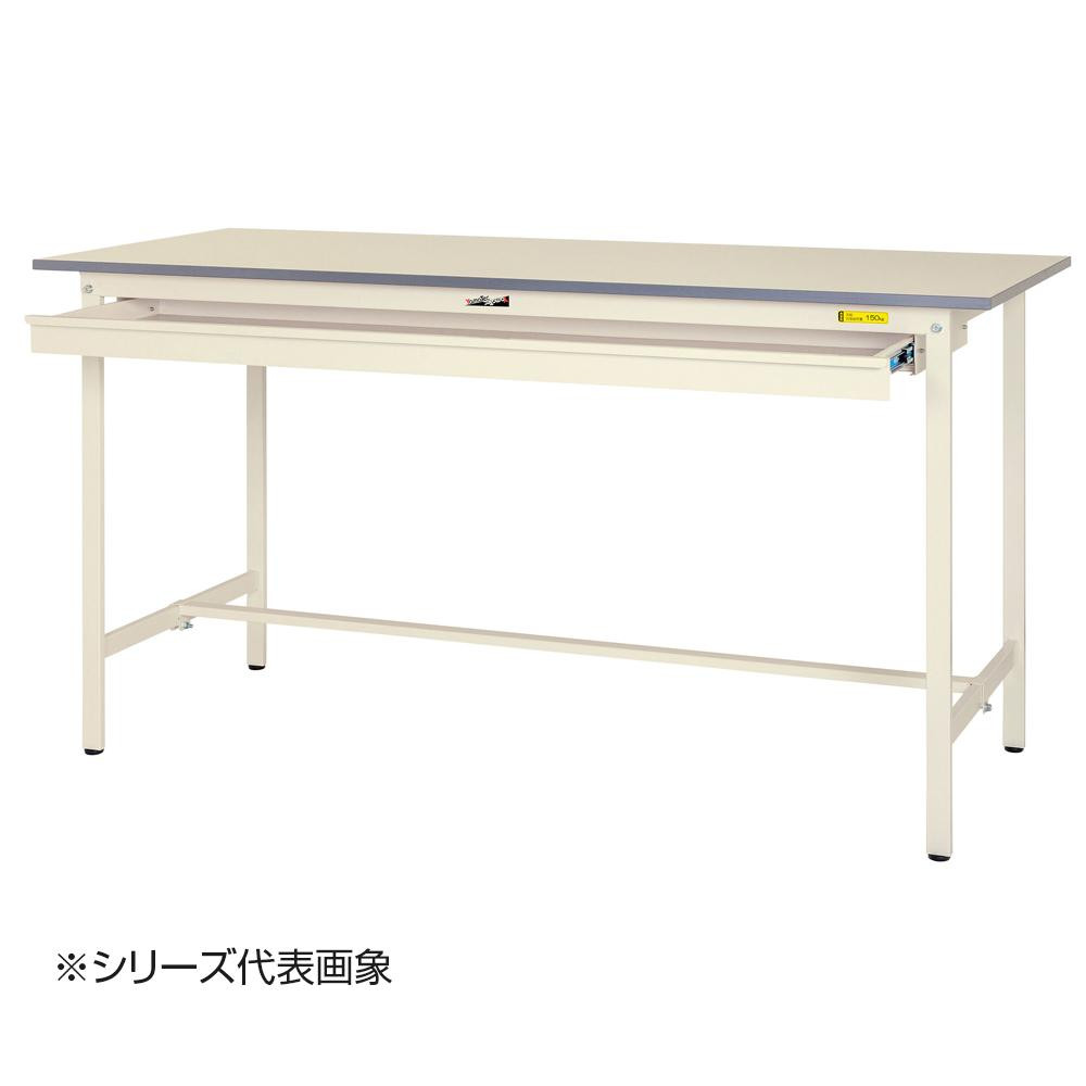 山金工業(YamaTec) SUPH-960W-WW ワークテーブル150シリーズ 固定式 ワイド引き出し付(H950mm) 900×600mm [ラッピング不可][代引不可][同梱不可]
