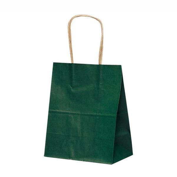 T-2 自動紐手提袋 紙袋 紙丸紐タイプ 200×120×250mm 200枚 カラー(緑) 1215 [ラッピング不可][代引不可][同梱不可]