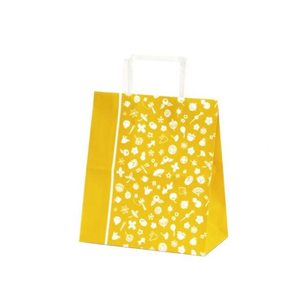 T-Z 自動紐手提袋 紙袋 平紐タイプ 220×120×250mm 400枚 花小町(からし) 1962 [ラッピング不可][代引不可][同梱不可]