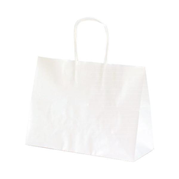 T-6S 自動紐手提袋 紙袋 紙丸紐タイプ 310×125×230mm 200枚 白無地 1340 [ラッピング不可][代引不可][同梱不可]