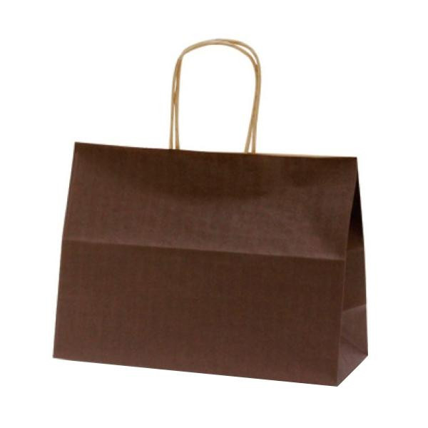 T-6S 自動紐手提袋 紙袋 紙丸紐タイプ 310×125×230mm 200枚 カラー(カカオ) 1655 [ラッピング不可][代引不可][同梱不可]