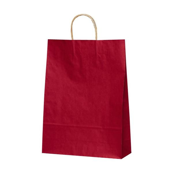 T-8 自動紐手提袋 紙袋 紙丸紐タイプ 320×110×430mm 200枚 カラー(赤) 1854 [ラッピング不可][代引不可][同梱不可]