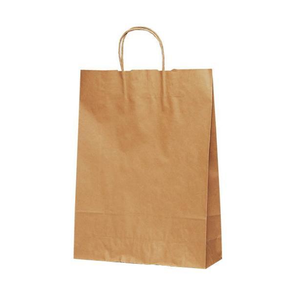T-8 自動紐手提袋 紙袋 紙丸紐タイプ 320×110×430mm 200枚 茶無地 1896 [ラッピング不可][代引不可][同梱不可]