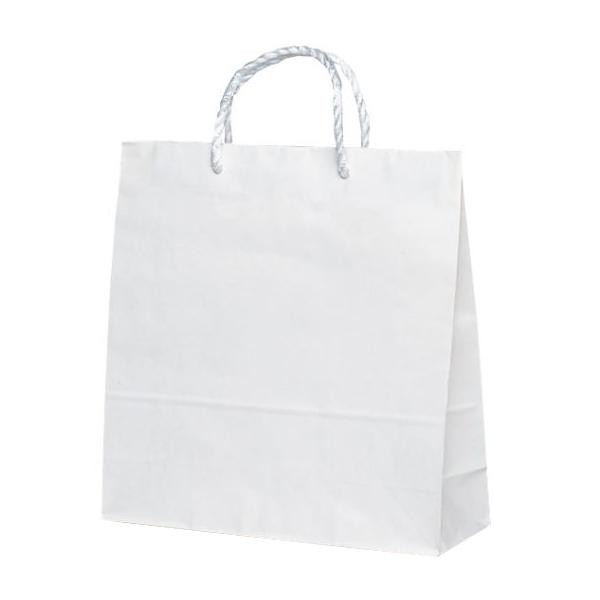 T-6 自動紐手提袋 紙袋 PP紐タイプ 320×115×320mm 200枚 白無地 1638 [ラッピング不可][代引不可][同梱不可]