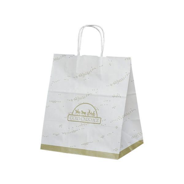 T-ワイド 自動紐手提袋 紙袋 紙丸紐タイプ 300×210×350mm 200枚 金馬車 1752 [ラッピング不可][代引不可][同梱不可]