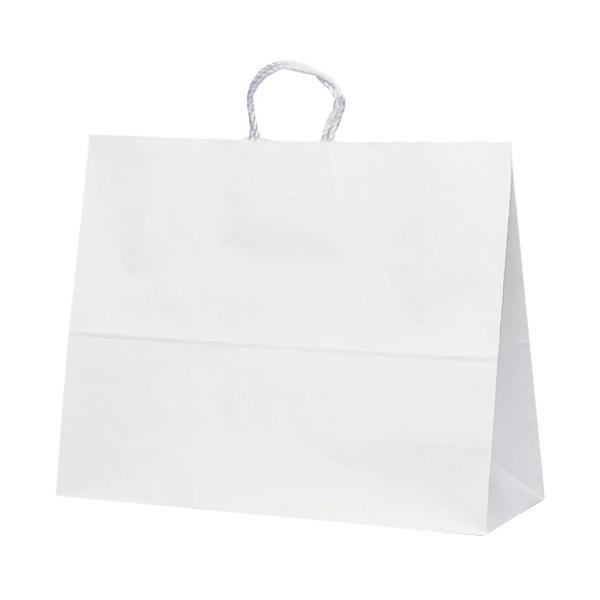 T-17 自動紐手提袋 紙袋 紙丸紐タイプ 600×220×480mm 100枚 白無地 1748 [ラッピング不可][代引不可][同梱不可]