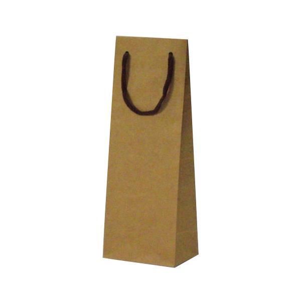 T-W カラークラフト ワインボトル用紙袋 130×90×360mm 100枚 ナチュラル 5980 [ラッピング不可][代引不可][同梱不可]