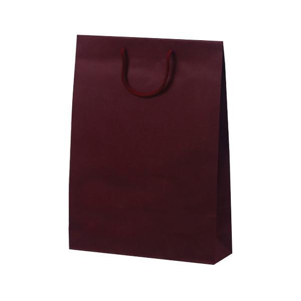T-8 カラークラフト 紙袋 330×100×450mm 100枚 ワイン 1032 [ラッピング不可][代引不可][同梱不可]
