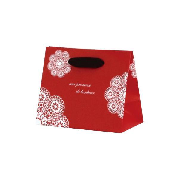 グレイスバッグ 紙袋 180×100×150mm 100枚 レースィ(レッド) 5920 [ラッピング不可][代引不可][同梱不可]