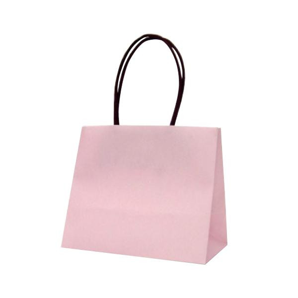 ハンディーバッグ テミニン 紙袋 180×100×150mm 100枚 ベビーピンク 1468 [ラッピング不可][代引不可][同梱不可]