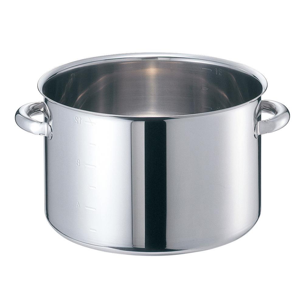 EBM モリブデンジII 半寸胴鍋(目盛付)33cm 蓋無 8689400