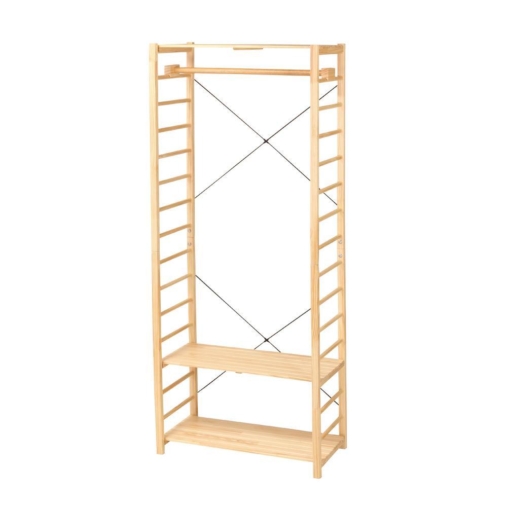 木製ハンガーラック ナチュラル PIRHG1842NA [ラッピング不可][代引不可][同梱不可]
