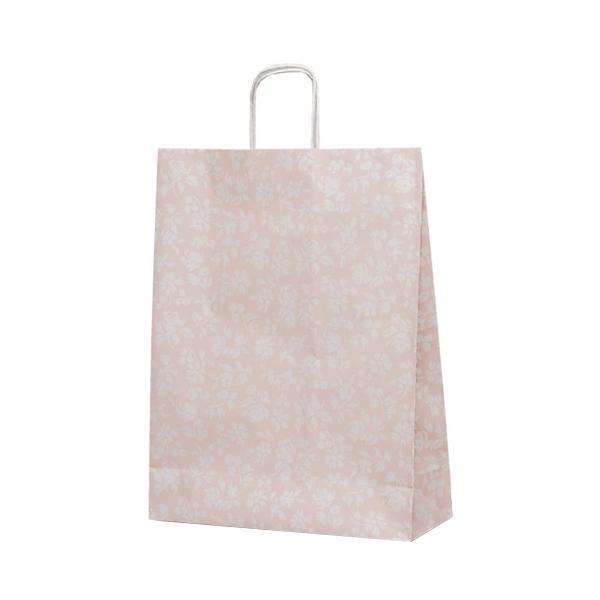 T-12 自動紐手提袋 紙袋 紙丸紐タイプ 380×145×500mm 200枚 カレン(ピンク) 1441 [ラッピング不可][代引不可][同梱不可]