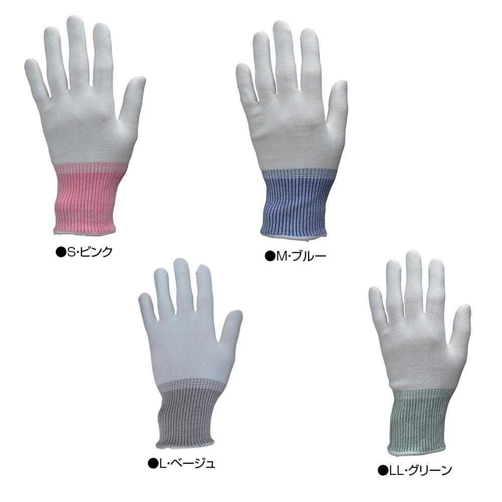 東和コーポレーション(TOWA) 耐切創用手袋 NEOカットレジストインナーファイズ 10双 ホワイト 197 S・ピンク