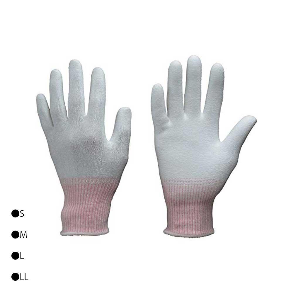 東和コーポレーション(TOWA) 耐切創用手袋 カットレジスト 10双 ホワイト 170 S・ピンク