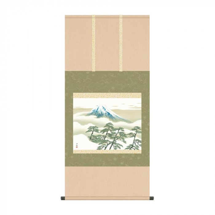 掛軸 横山大観「松に富士」 KZ2G9-004 54.5×115cm [ラッピング不可][代引不可][同梱不可]
