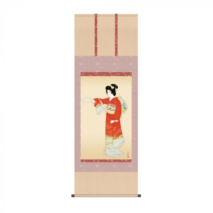 掛軸 上村松園「序の舞」 KZ2G9-021 54.5×153cm [ラッピング不可][代引不可][同梱不可]