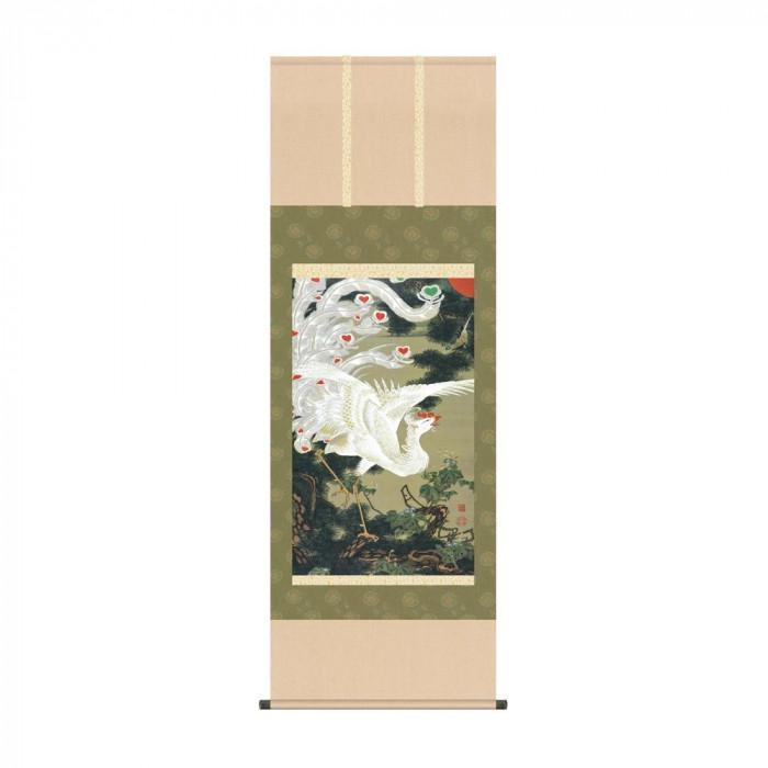 掛軸 伊藤若冲「老松白鳳図」 KZ2G9-032 54.5×153cm [ラッピング不可][代引不可][同梱不可]