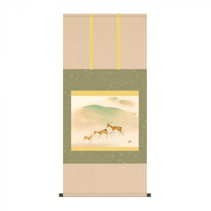 掛軸 竹内栖鳳「遊鹿」 KZ2G9-045 54.5×115cm [ラッピング不可][代引不可][同梱不可]