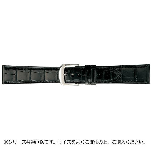 BAMBI バンビ 時計バンド グレーシャス ワニ革 黒(美錠:白) BWA005AP