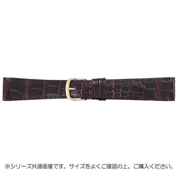 BAMBI バンビ 時計バンド グレーシャス ワニ革 チョコ(美錠:金) BWA212BO