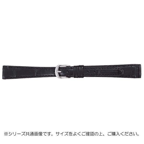 BAMBI バンビ 時計バンド グレーシャス ワニ革 黒(美錠:白) BWA512AL