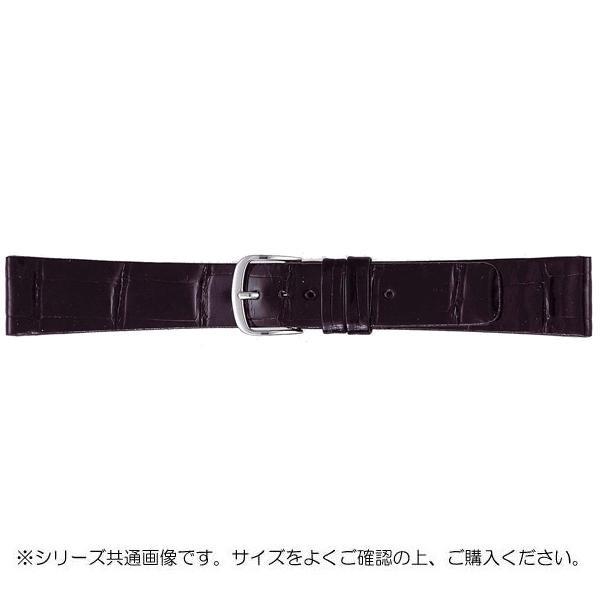 BAMBI バンビ 時計バンド グレーシャス ワニ革 黒(美錠:白) BWA081AR
