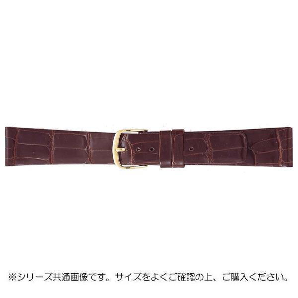 BAMBI バンビ 時計バンド グレーシャス ワニ革 チョコ(美錠:金) BWA081BP