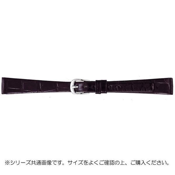 BAMBI バンビ 時計バンド グレーシャス ワニ革 黒(美錠:白) BWA702AI
