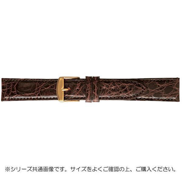 BAMBI バンビ 時計バンド エルセ ワニ革 チョコ(美錠:金) SWA007BS
