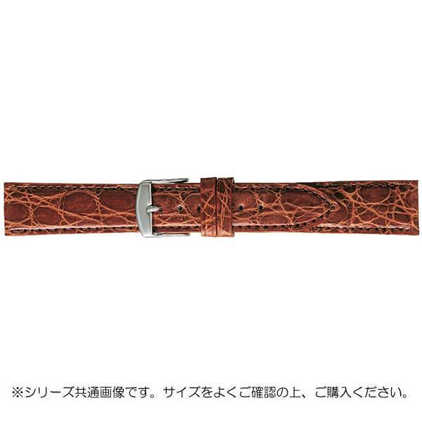 BAMBI バンビ 時計バンド エルセ ワニ革 ブラウン(美錠:白) SWA007CL