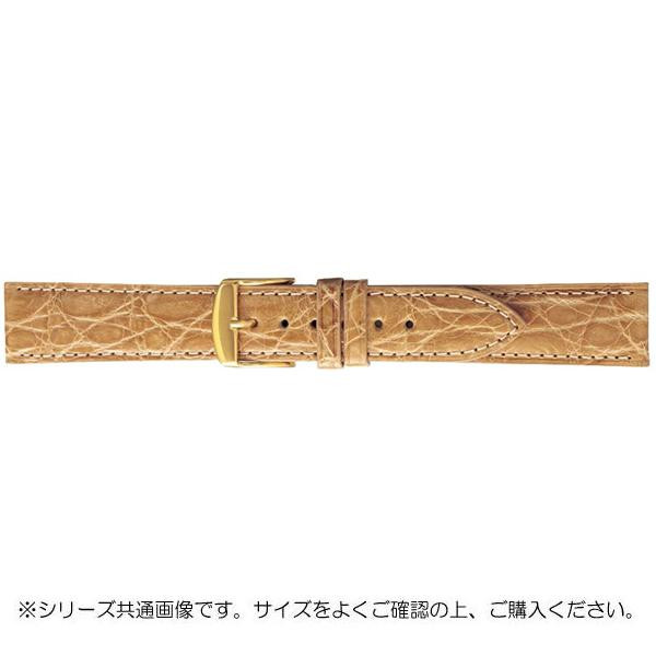BAMBI バンビ 時計バンド エルセ ワニ革 ベージュ(美錠:金) SWA007FP