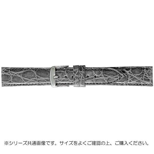 BAMBI バンビ 時計バンド エルセ ワニ革 グレー(美錠:白) SWA007GL
