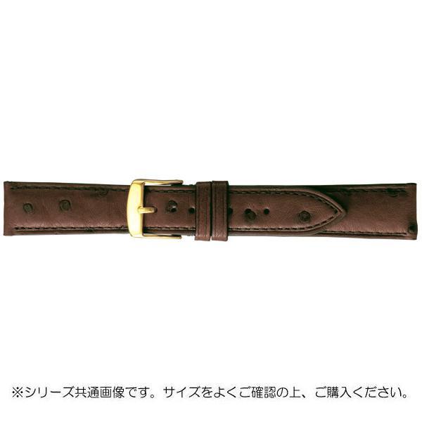 BAMBI バンビ 時計バンド エルセ オーストリッチ革 チョコ(美錠:金) SDA006BS