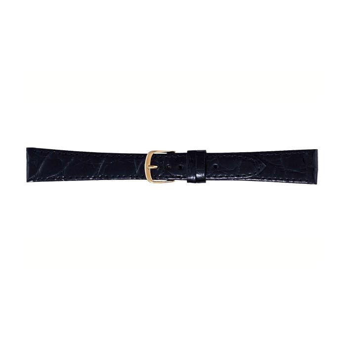 BAMBI バンビ 時計バンド ワニ革 黒(美錠:金) BWA251AP