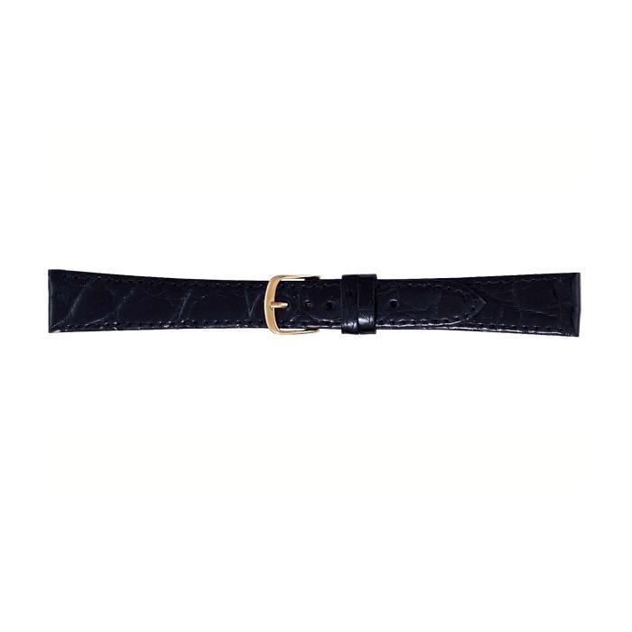 BAMBI バンビ 時計バンド ワニ革 黒(美錠:金) BWA251AS
