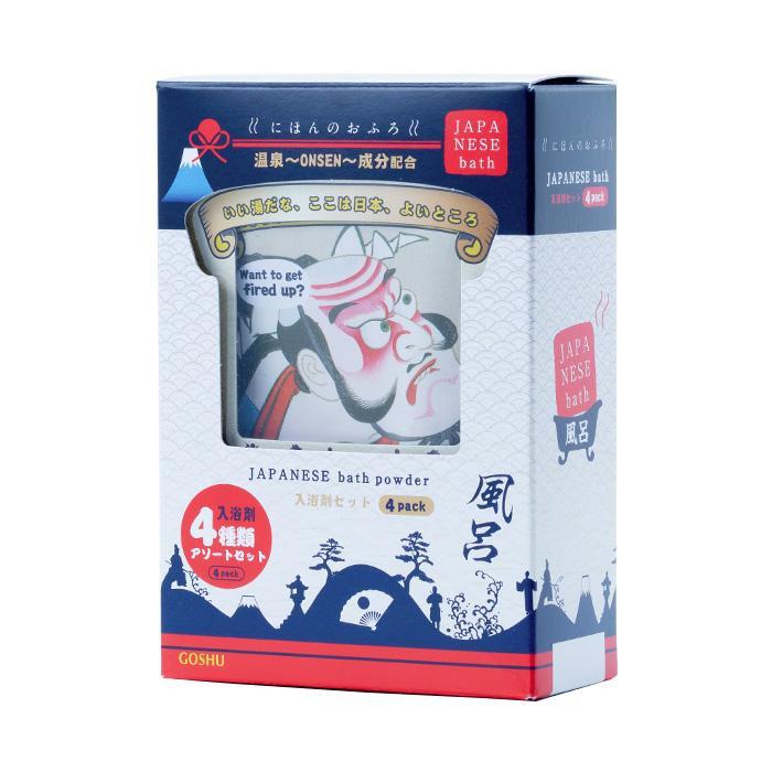 五洲薬品 入浴料セット にほんのおふろ アソートセット (25g×4包)×24箱 NHO-AS4