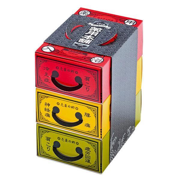 五洲薬品 薬用入浴剤(医薬部外品) 売薬の郷 薬用本舗 3箱セット(赤・黄・緑) (3包入箱×3種)×10セット BYS-G3
