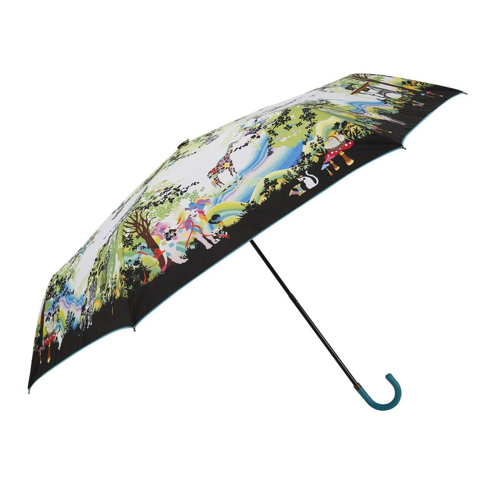 新品 在庫あり折りたたみ傘 手開き 55cm サンリオ ホラグチカヨ