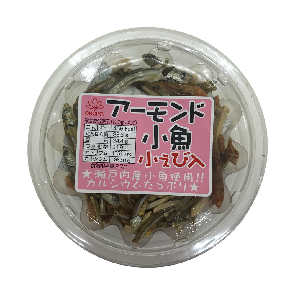 扇屋食品 アーモンド小魚 小えび入り(65g)×96個 [ラッピング不可][代引不可][同梱不可]