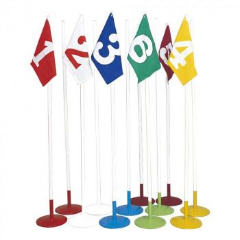 等賞旗兼用ドリブルポール 12台セット A-2551 [ラッピング不可][代引不可][同梱不可]