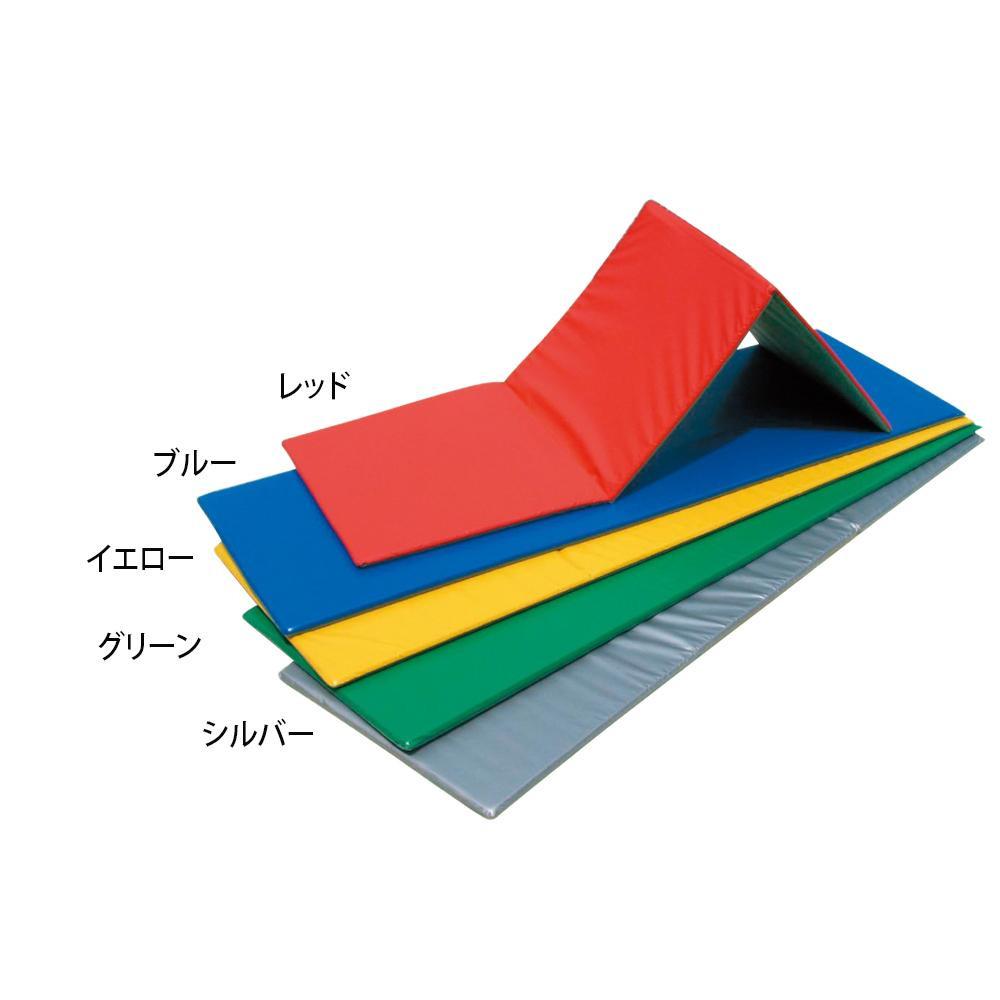 三ツ折ノンスリップフィットネスマット 60×180×2cm F-62 レッド [ラッピング不可][代引不可][同梱不可]